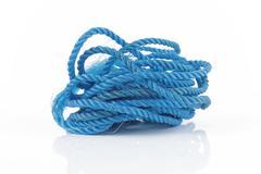 blue rope - stock photo