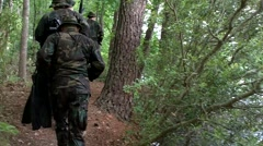 Seal Trainees in Woods  - stock footage