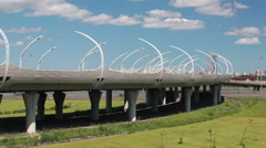 Western High Speed Diameter elevated route in Saint-Petersburg, Russia Stock Footage