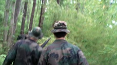 Seal Trainees Hiking in Woods  Stock Footage