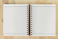 Stock Photo of white blank open notebook