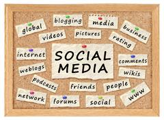 social with networking concept - stock photo