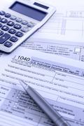 IRS 1040 Veroilmoitus Kuvituskuvat