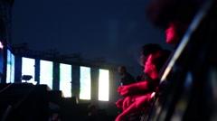 CROWD SUSPENCE LIGHT Stock Footage