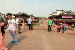 Qibao Canal bridge time lapse 4K 24 Stock Footage