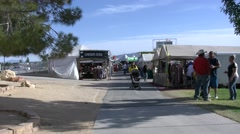 4K Sellers Tents at the County Fair Stock Footage