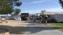 4K Traders at the County Fair Stock Footage