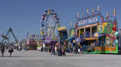 4K Carnival Rides at the Clark County Fair Stock Footage