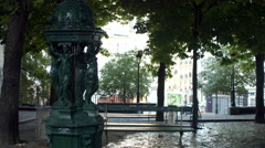 Place of the Bateau lavoir, Montmartre, Paris, France Stock Footage