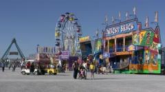4K Fairground Rides Stock Footage