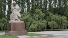 Soviet War Memorial in Treptower Park, Berlin, Germany Stock Footage