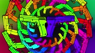 Rainbow colorful guns Background Stock Footage