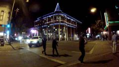 Downtown Flagstaff AZ At Night With Weatherford Hotel Stock Footage