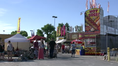 Stalls at the Clark County Fair - stock footage