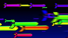 Rainbow colorful misil Background Stock Footage