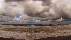 Rough seas with fisheye shot 02 Stock Footage