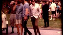 Boston Friends of the public garden beacon-charles hippie invasion ice peace Stock Footage