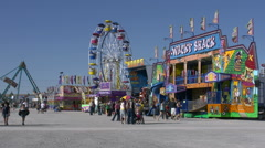 Carnival Rides at the Clark County Fair Stock Footage