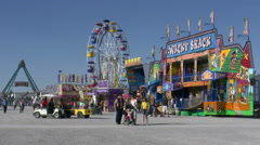 Fairground Rides at the County Fair Stock Footage
