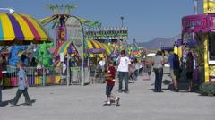 Fairground Rides Stock Footage