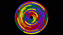 Rotating colored circle segments in seamless loop  4-29 Stock Footage