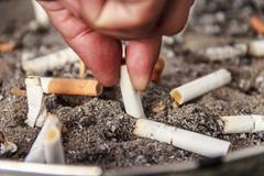 Cigarette ashtray - stock photo