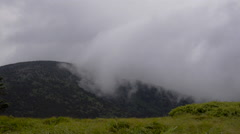 Clouds Spilling Over Roan Mountain Stock Footage