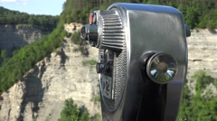 Tourist Binoculars, Viewing, Coin Operated Stock Footage