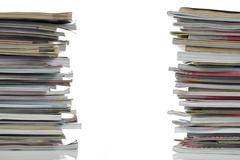 Stock Photo of shot of stack of magazines