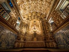 Sao Francisco Church and Convent Altar, Salvador da Bahia, Brazil - stock photo