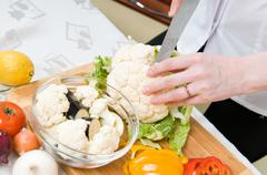 cooking food - stock photo
