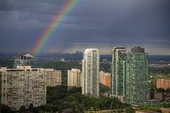 Mississauga West of Toronto Rainbow Kuvituskuvat