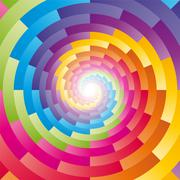 Abstract background with the motif of children's kaleidoscope Stock Illustration