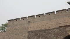 The walls and towers of pingyao china Stock Footage