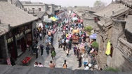 Stock Video Footage of crowds in the ancient city of pingyao china