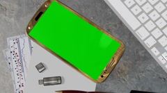 Smartphone Green Screen for Advertisement Presentation Commerce Stock Footage