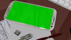 Smartphone Green Screen for Advertisement Presentation Commerce - stock footage