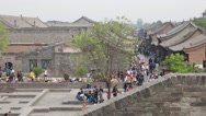 Stock Video Footage of crowded streets of ancient city of pingyao china dolly