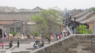 Stock Video Footage of a crowded ancient city of pingyao china dolly
