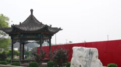 Chinese pagoda in pingyao china Stock Footage