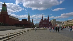 Moscow citysacape. Red Square,  Kremlin and Historical Museum. Stock Footage