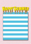 happy Summer background - stock illustration