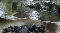 River in a wild gorge, Banita, Romania Stock Footage
