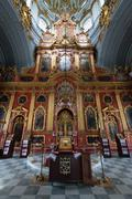 Interior of saint andrew orthodox church in kyiv, ukraine. Stock Photos