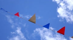 Summer Bunting Stock Footage