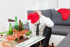 alcohol abuse during holiday period - stock photo