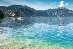 Attersee lake in austria Stock Photos