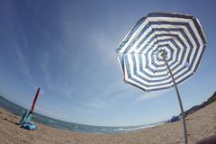 Parasol beach Stock Photos