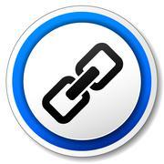 vector chain icon - stock illustration