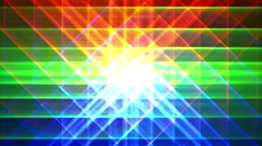 Prismatic grid star abstract background loop, rgb, red green blue shimmer 1 Stock Footage